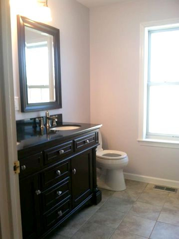 perhaps you would just like a new custom vanity and tile flooring